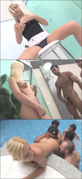 Thays Schiavinato - Lady Boy Gangbang - Alex Junior, Andre Garcia